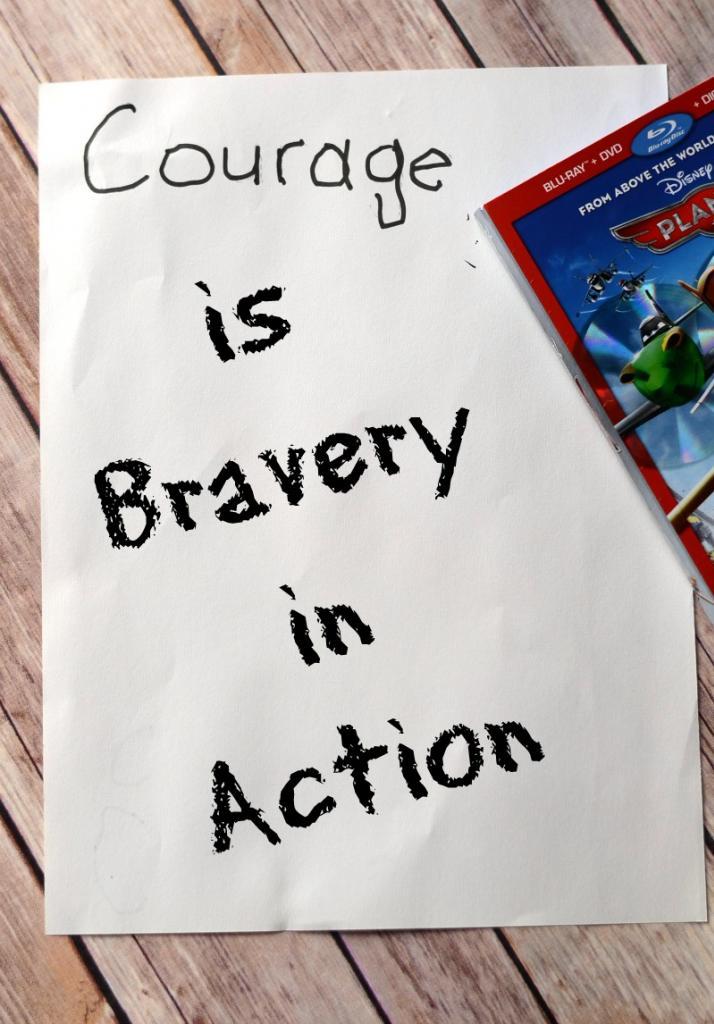 Teaching Courage with Disney Places #OwnDisneyPlanes #shop #cbias