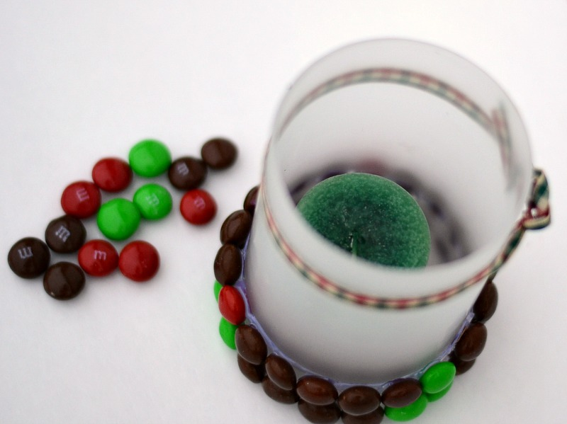 Beaded Candleholder with Gingerbread M & Ms #HolidayMM #shop #cbias