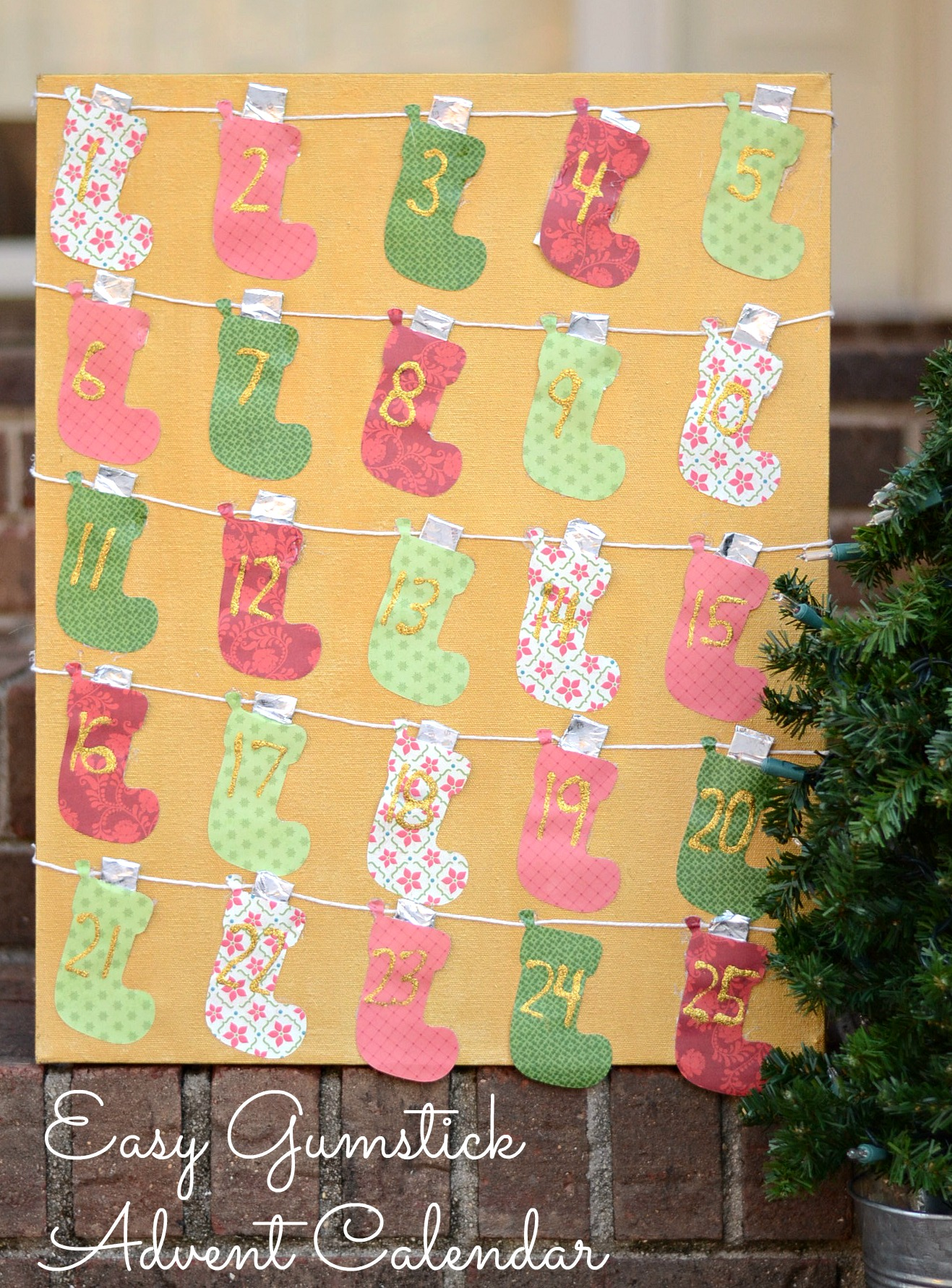 Easy Gum Stick Advent Calendar DIY #GiveExtraGum #shop #cbias