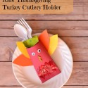 Kids' Thanksgiving Turkey Cutlery Holder