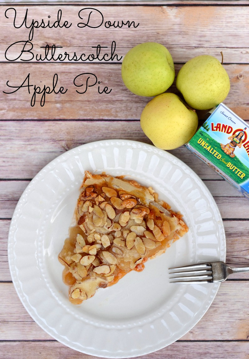 Upside Down Butterscotch Apple Pie #HolidayButter #shop #cbias