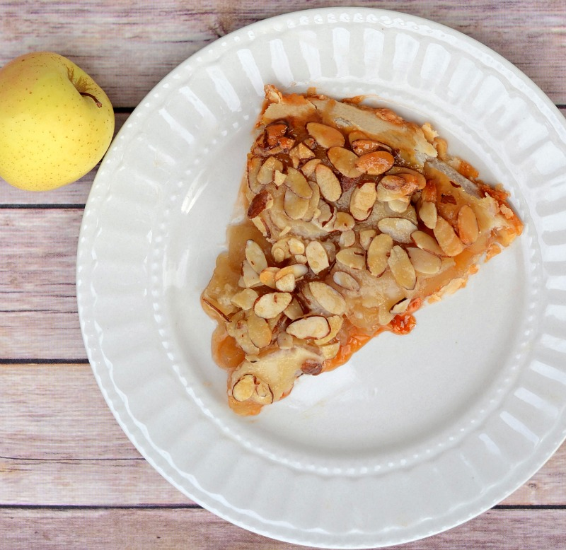 Upside Down Butterscotch Apple Pie