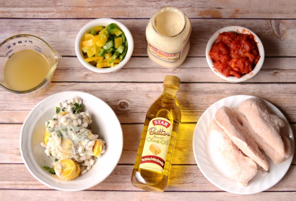 Slow Cooker Chicken Alfredo Soup Ingredients #STARoliveoil #cbias #shop