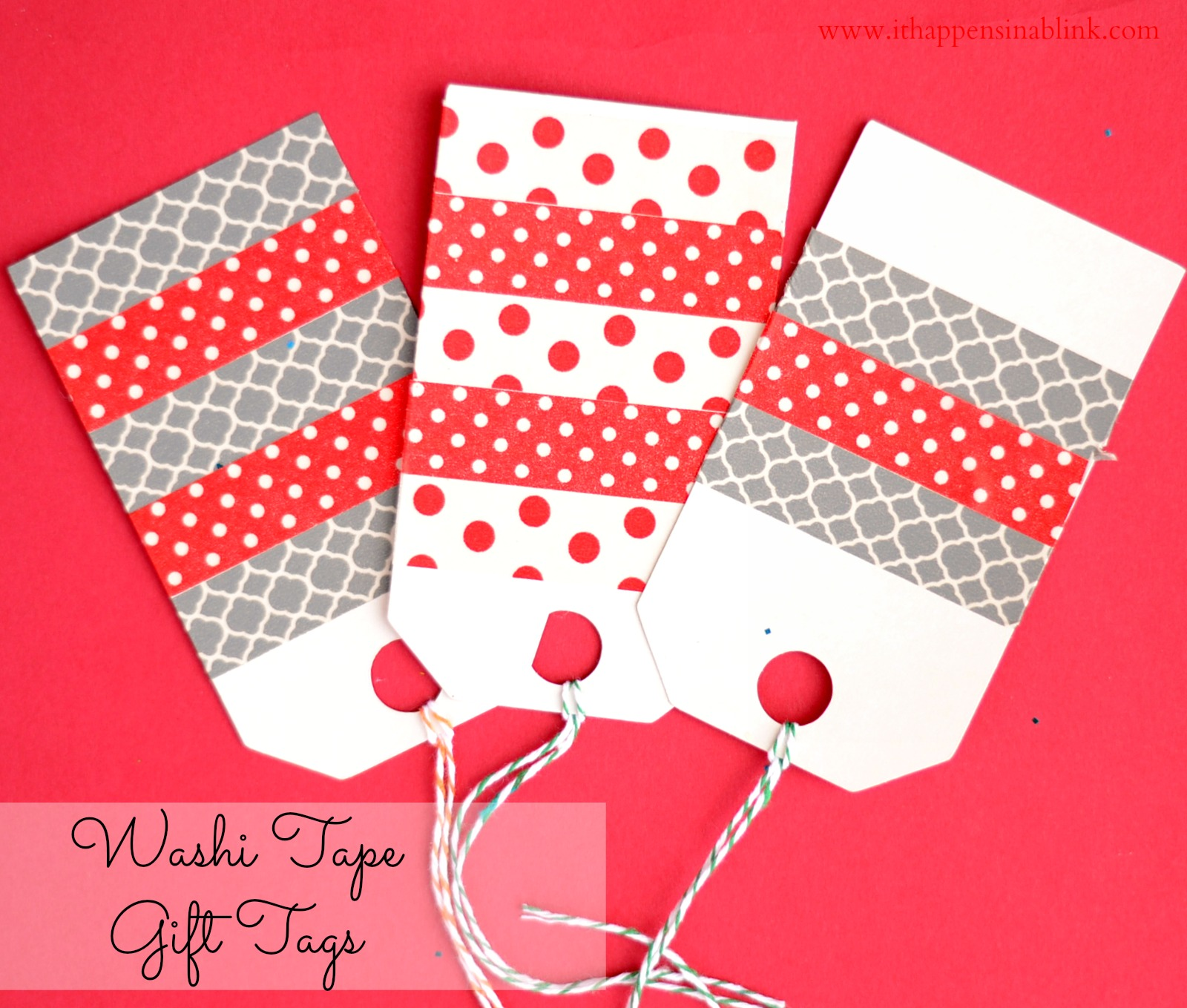 20 crafty days of christmas washi tape gift tags see for Custom tags for crafts