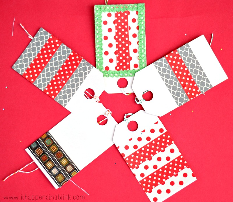 Washi Tape Gift Tag from It Happens in a Blink