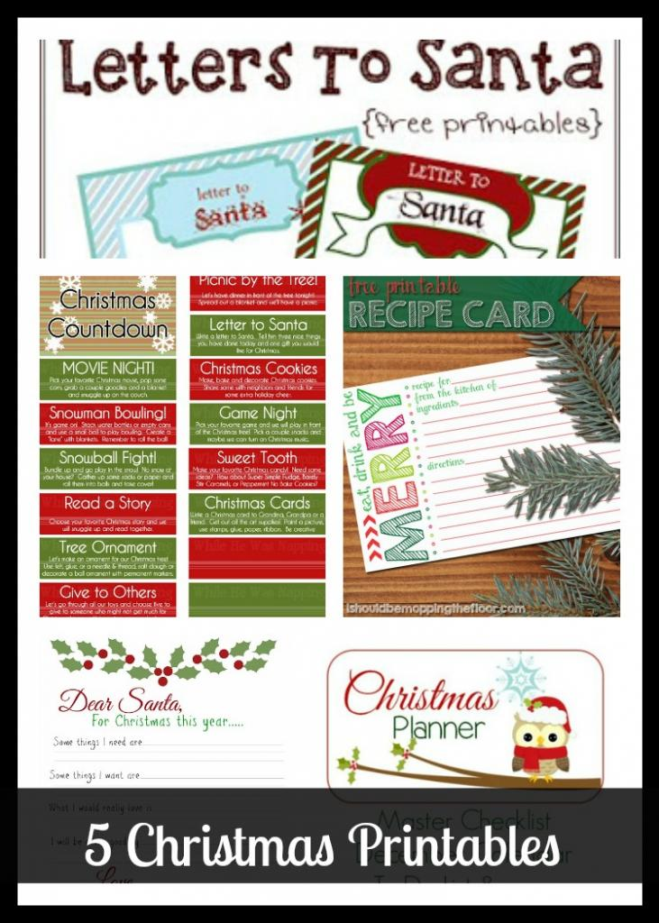 5 Christmas Printables from The Project Stash
