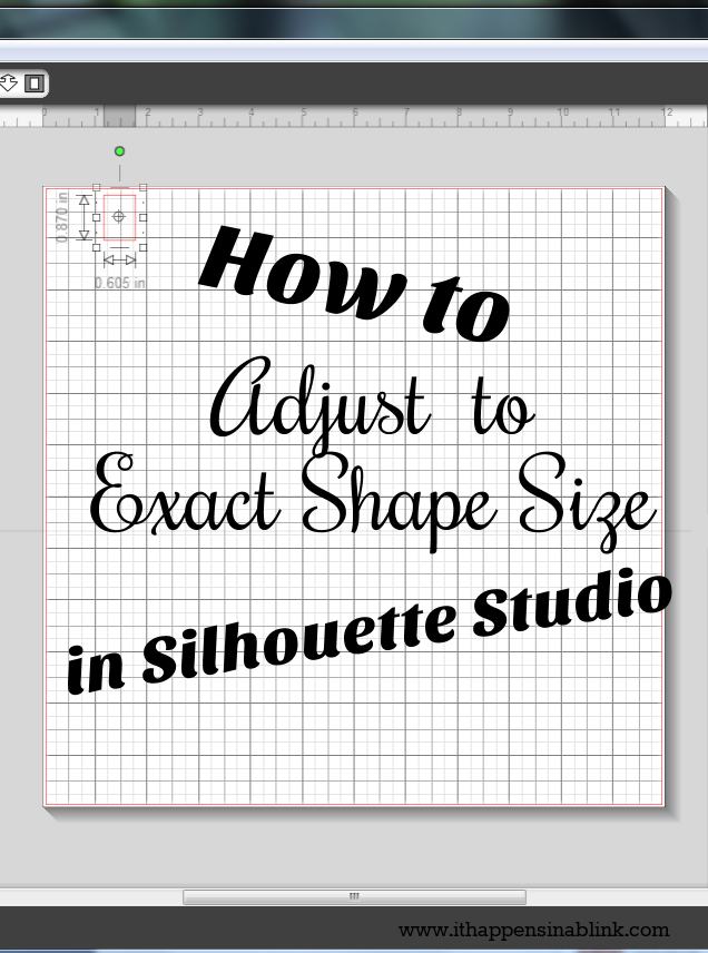 How to Adjust to Exact Shape Size in Silhouette