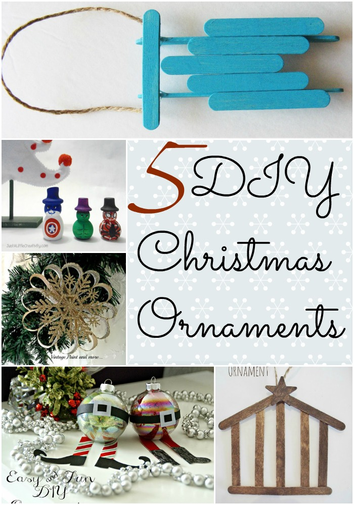 5 DIY Christmas Ornaments from The Project Stash Party