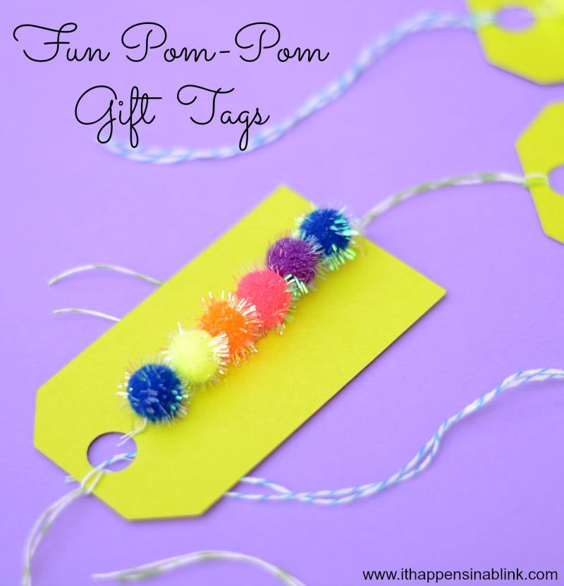 Fun Shimmer Pom Pom Gift Tags