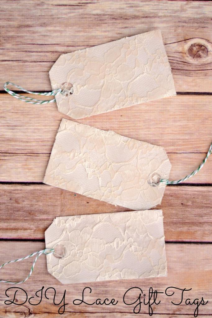 Lace Covered Gift Tags from it Happens in a Blink