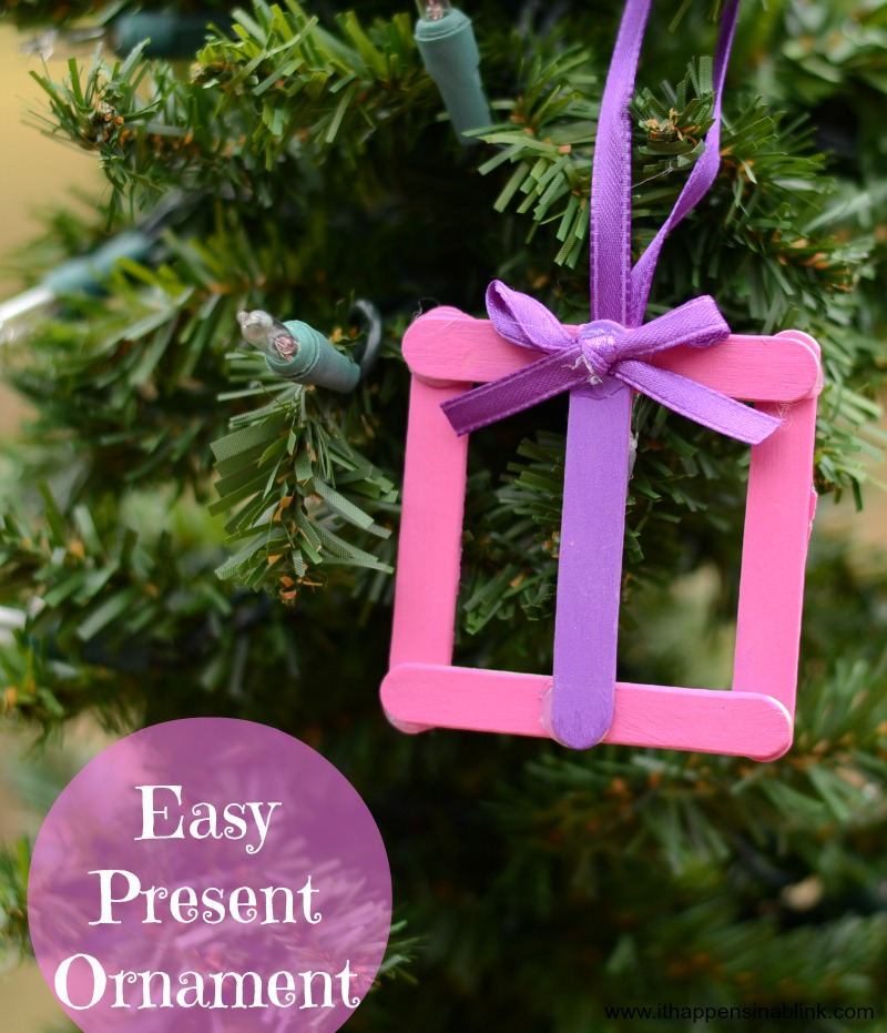 Easy Kid's Present Ornament from It Happens in a Blink