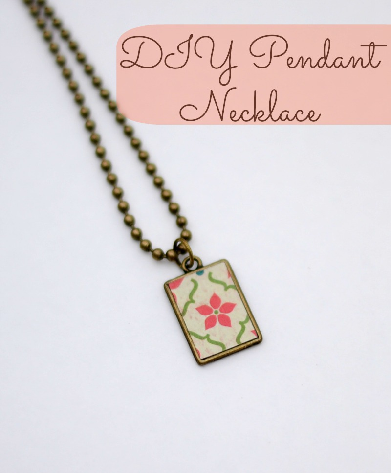 Easy DIY Pendant Necklace using a Silhouette