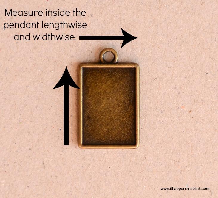 Measure pendant for necklace