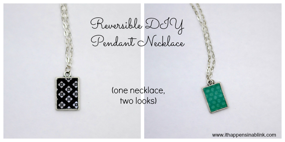 Reversible DIY Pendant Necklace using Silhouette