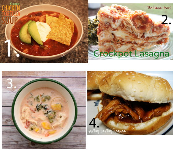12 Weeknight Dinner Slow Cooker and Crock Pot Recipes from It Happens in a Blink