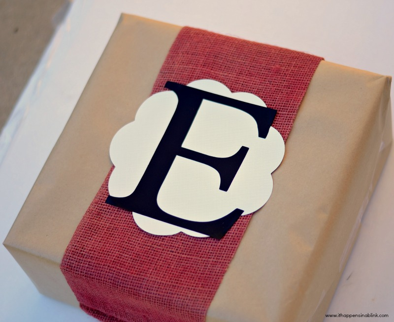 Use a Cricut Cartridge to spruce up gift wrapping