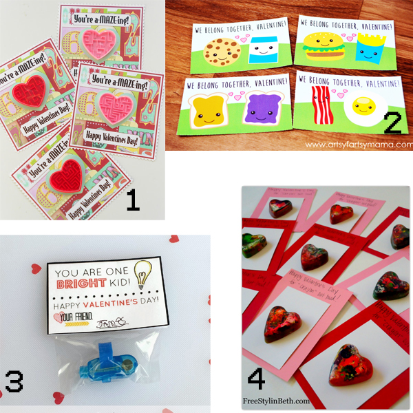 24 Non-Candy Valentines Ideas from It Happens in a Blink. Great for kids classes