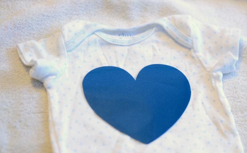 DIY Heart Onesie from It Happens in a Blink