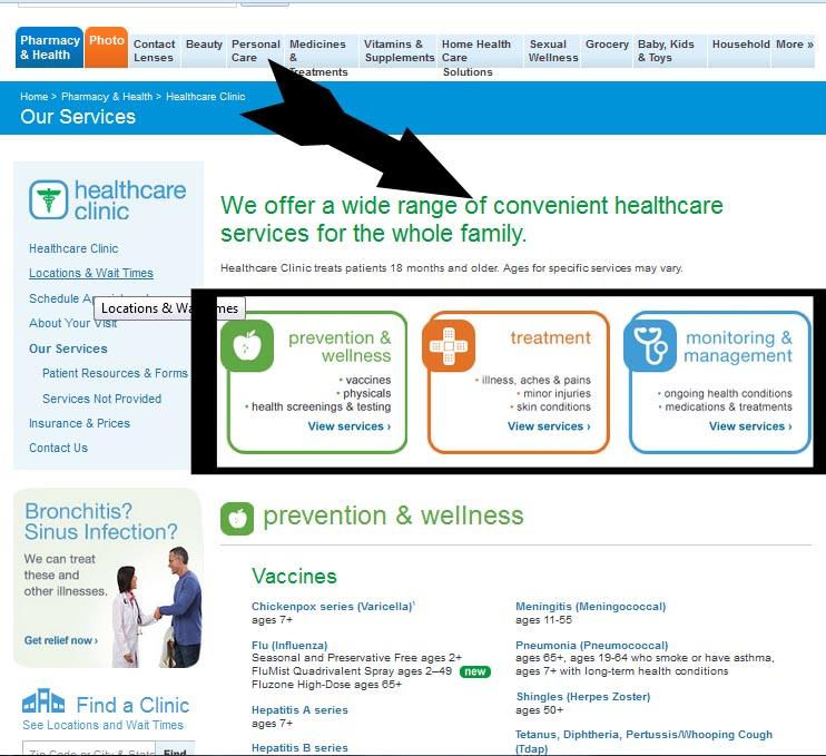 Walgreens #HealthcareClinic Services #shop