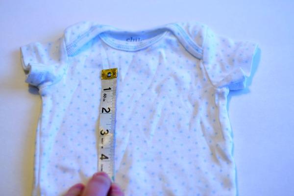 Measure heart onesie