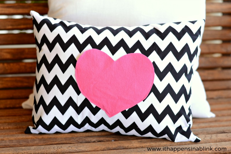 Secret Love Notes Envelope Pillow Tutorial from It Happens in a Blink