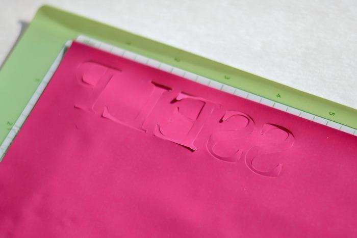 DIY Name Bookbag Pull with heat transfer vinyl
