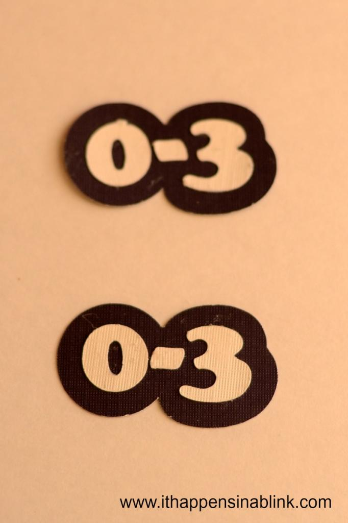 Numbers for Closet Dividers from It Happens in a Blink