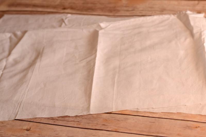 Cut pillow insert fabric
