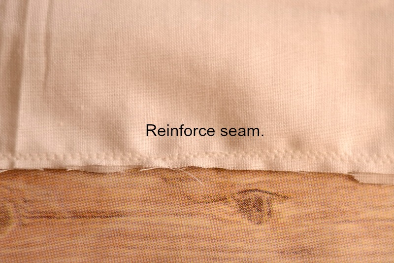 Reinforce pillow stitching