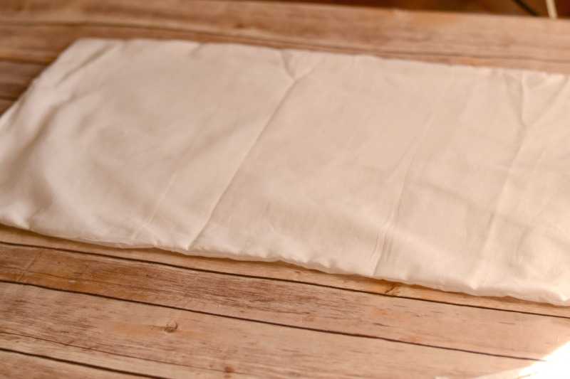 Turn pillow right side out