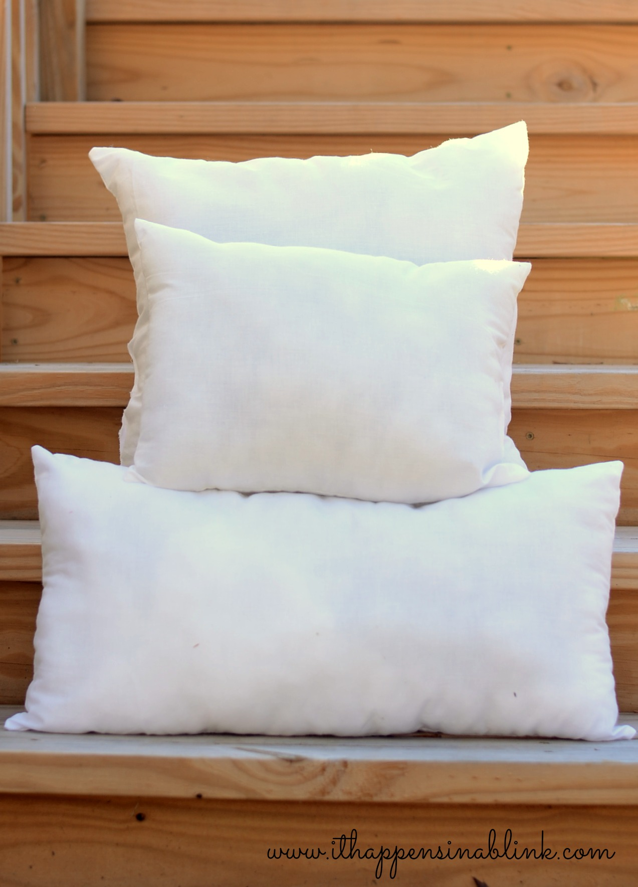 Make Your Own Pillow Inserts from It Happens in a Blink