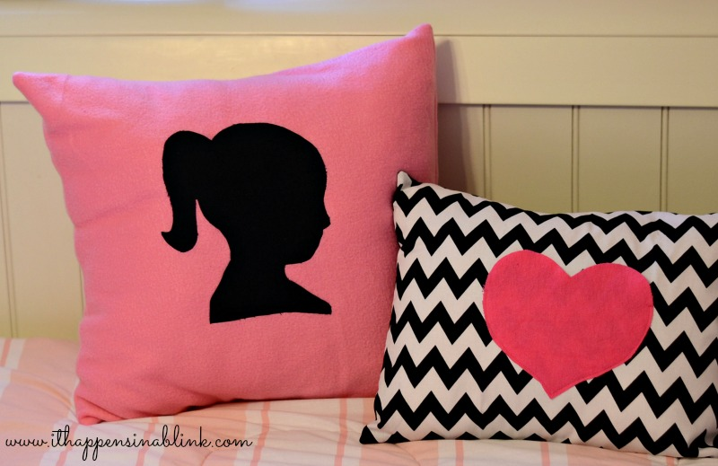 Fleece Silhouette Pillow Cover from It Happens in a Blink