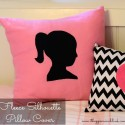Fleece Silhouette Envelope Pillow Cover