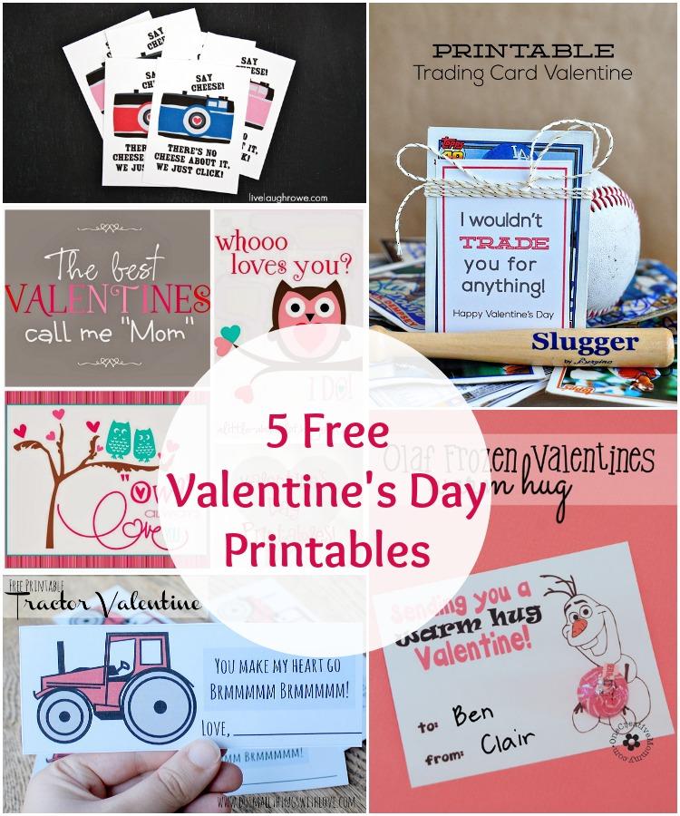5 Free Valentine's Day Printables