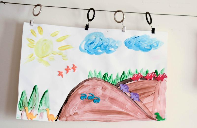CopyCat Dinosaur Picture from It Happens in a Blink- a great preschool project!