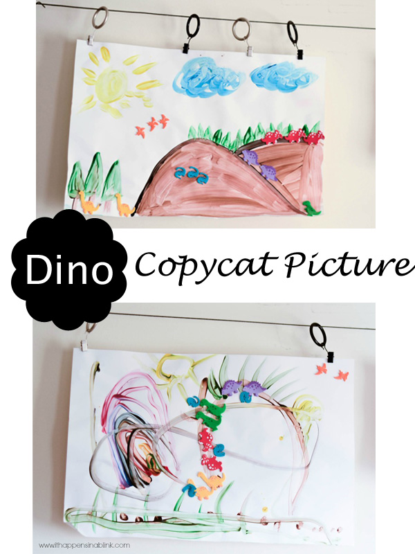 CopyCat Dinosaur Picture from It Happens in a Blink- a great preschool project!