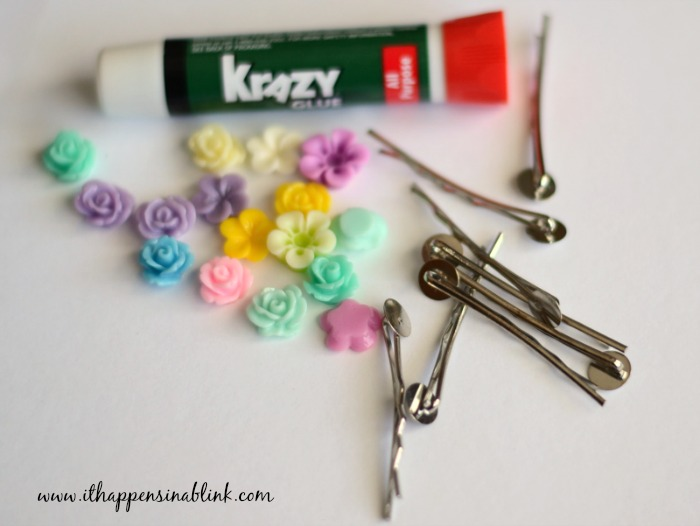 5 Minute Hair Pin Supplies from It Happens in a Blink