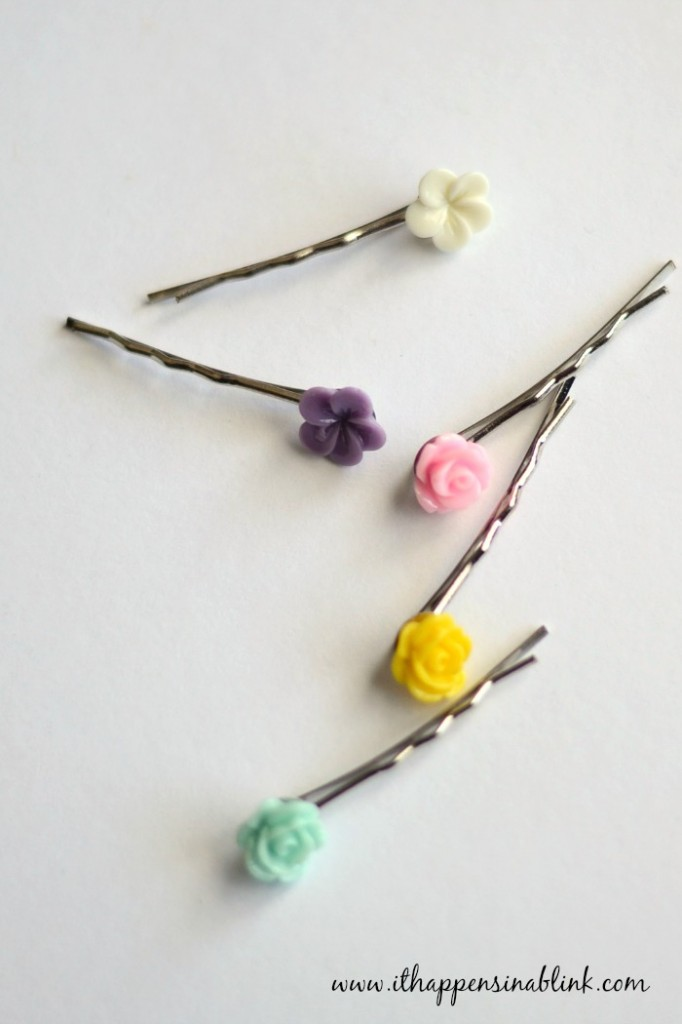 5 Minute Spring Hair Pins from It Happens in a Blink using Pick Your Plum materials #PickYourPlum #PYP