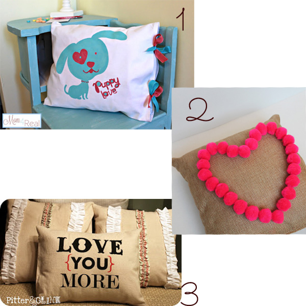 10 DIY Valentine Pillow Ideas