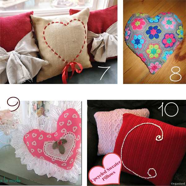 Pillow Pattern Ideas: 10 DIY Valentine Pillow Ideas,