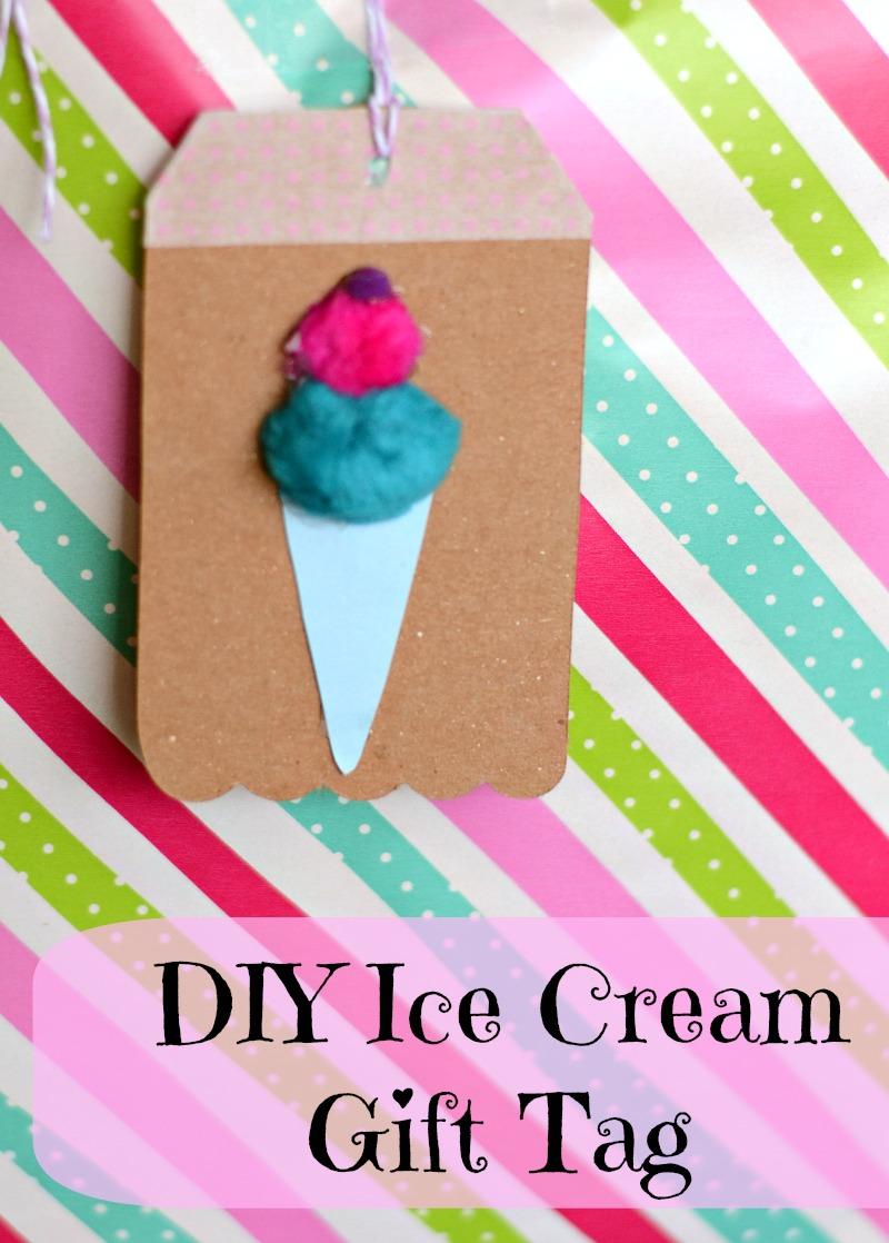 Easy DIY Ice Cream Gift Tag