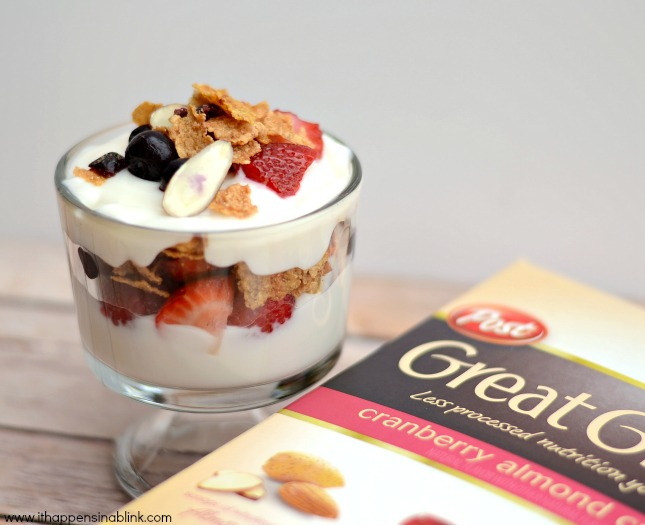5 Minute Fruit, Yogurt, & Cereal Parfaits from It Happens in a Blink #PMedia #ad #PostWalgreens