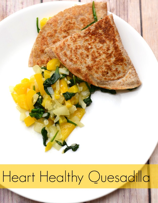 Heart Healthy Quesadilla from It Happens in a Blink