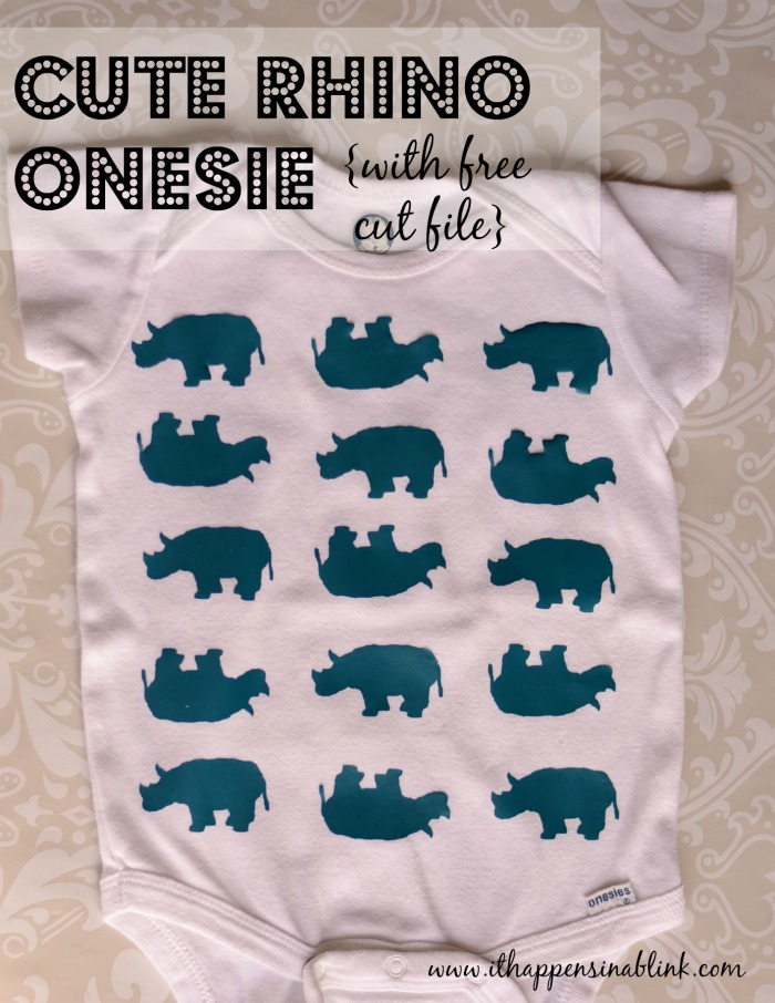 Rhino Onesie with free Silhouette Cut file