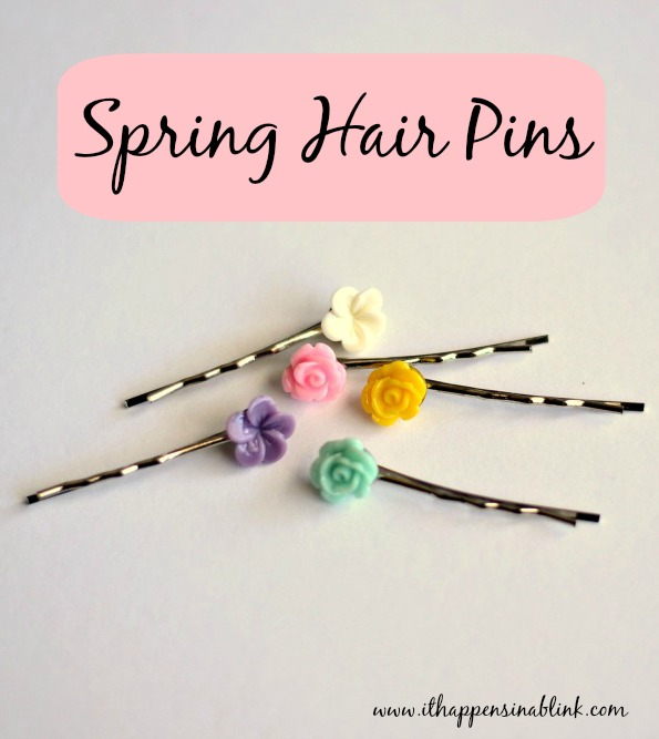 5 Minute Spring Hair Pin from It Happens in a Blink using materials from Pick Your Plum #PYP #PickYourPlum
