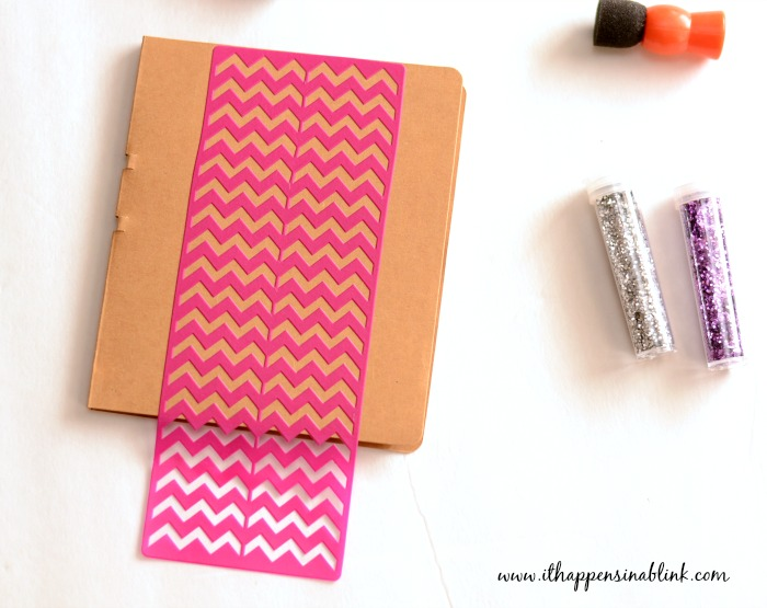 Embellishing a Notebook with Mod Podge Peel and Stick Stencils