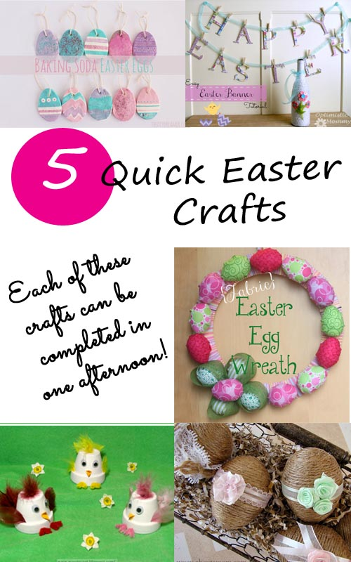 Five Quick Easter Crafts from It Happens in a Blink. Each of these crafts can be made in an afternoon.