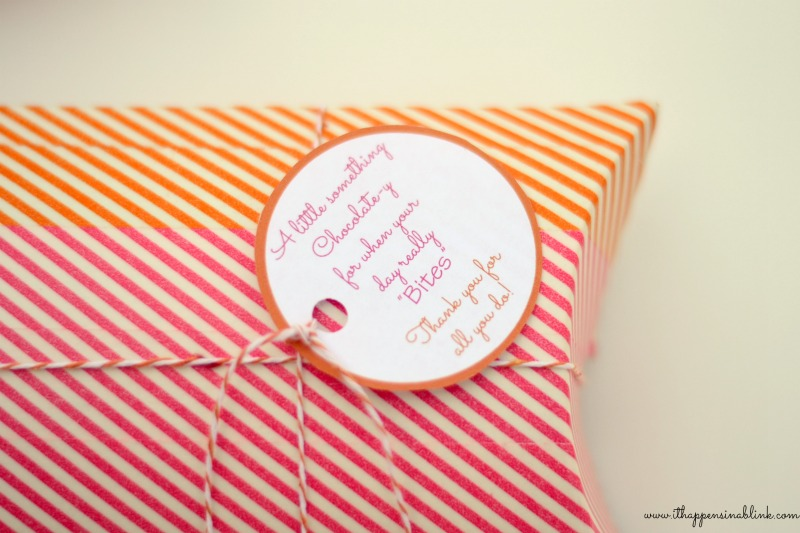 Washi Tape Teacher Appreciation Gift Box with Printable Tag