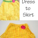 Easy Dress to Skirt Refashion