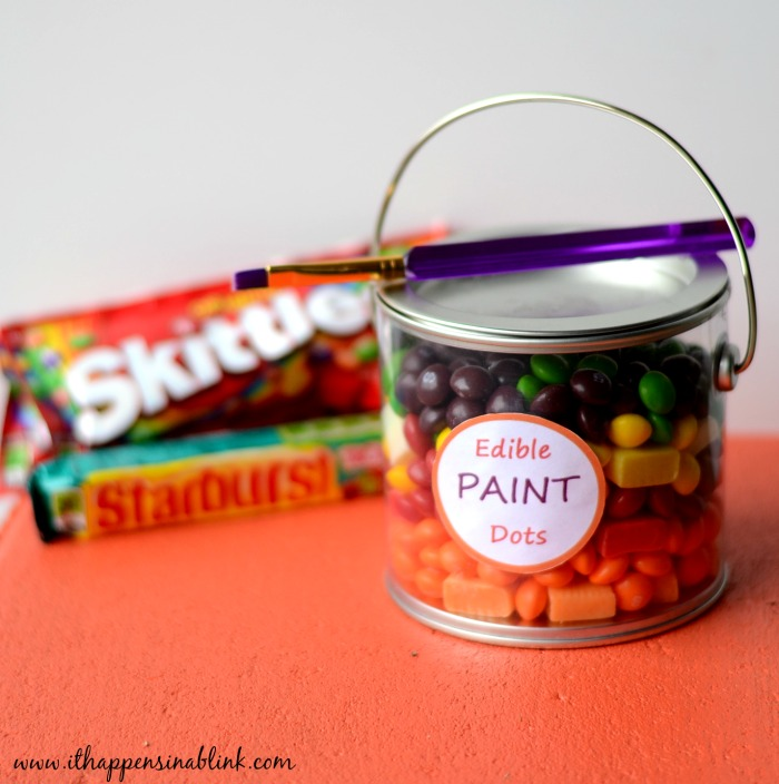 Edible Paint Dots with Skittles and Starburst #VIPFruitFlavors #shop #cbias